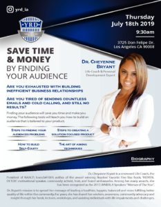 YRD- Young Realtist Division, Save Time & Money by Finding Your Audience (Keynote Speaker).